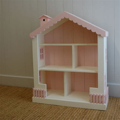 cottage dollhouse bookcase 15 colors solid pine wood 41