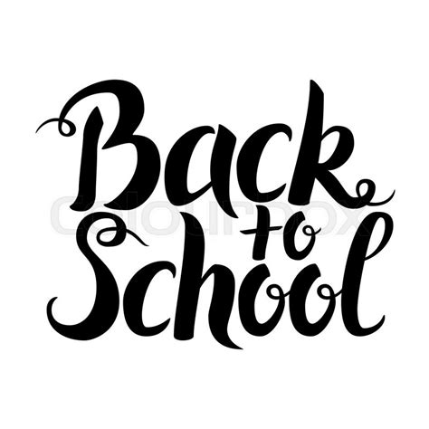 back to school lettering or black back to school lettering over white vector