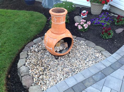 Chiminea Landscape Ideas diy chiminea pit patio ideas