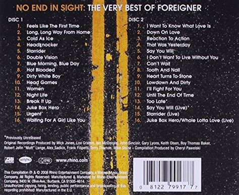 best of foreigner foreigner no end in sight the best of foreigner
