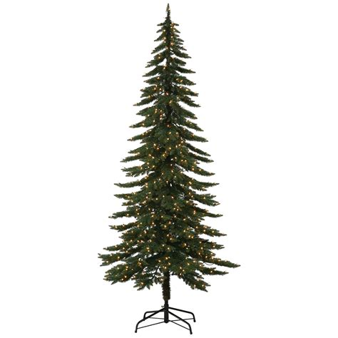 wyoming snow flocked 75 green pine artificial christmas tree 18 75 pre lit flocked tree pre lit 7 5 flocked birmingham fir artificial