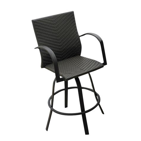 outdoor wicker bar stools swivel outdoor greatroom company resin wicker 47 quot swivel bar