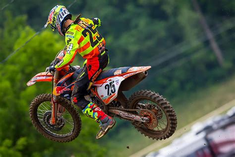 pro national motocross ktm s musquin sweeps millville s pro motocross national
