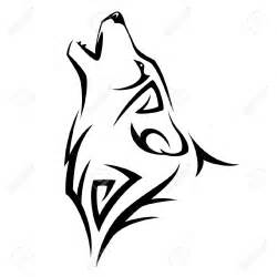 howl wolf tattoo tribal design illustration royalty free