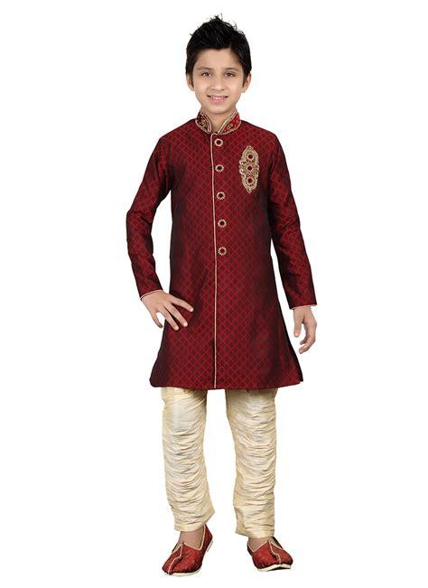 Fh Dress Kid Carista Maroon Kid buy maroon breeches style sherwani boys sherwani shopping kdmrg251