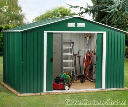 B Q Sheds For Sale by Shire Playhouse B Q 10x8 Metal Sheds Uk Wooden
