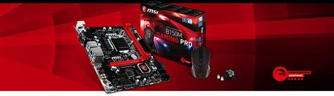 Msi B150m Gaming Pro W Mouse Ds B1 msi launches b150m gaming pro power up your weapon with a
