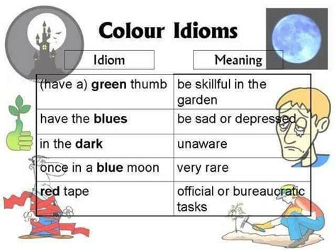 color idioms idioms related to colour learn site
