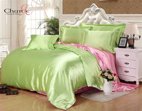 chagne bedding sets change chance luxury satin bedding green duvet cover