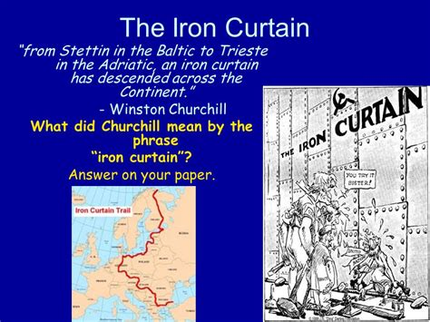 what does the iron curtain represent origins of the cold war the united states and the soviet