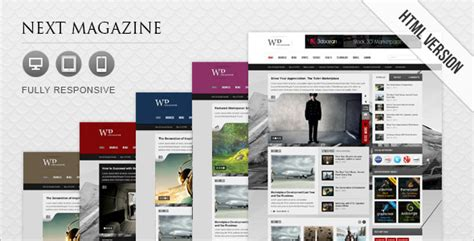 Next Magazine Responsive Magazine Template By Nextwpthemes Themeforest Magazine Site Template