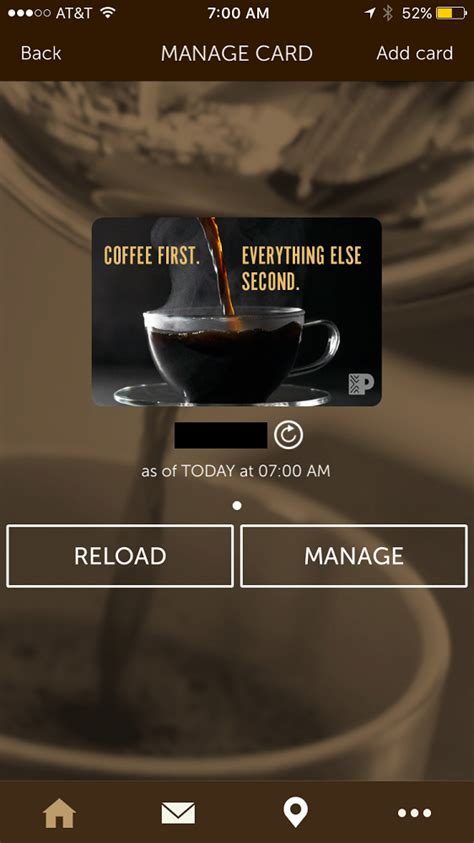 Peets Coffee Gift Card - introducing the peet s coffee peetnik rewards app free drink after first check in