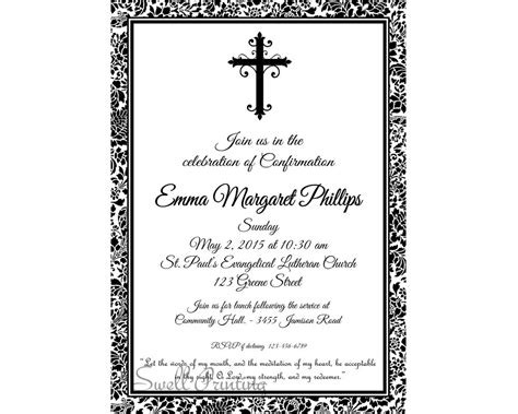 confirmation invites templates damask confirmation invitation confirmation invitation