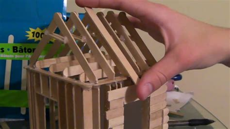 how to build a popsicle stick house 4 6 how to build a popsicle stick house roofing part 1