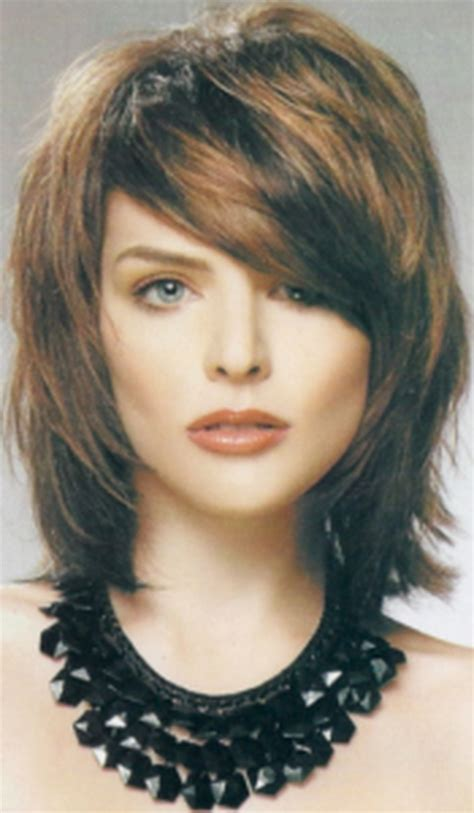 shag mid length haircut photos medium length shag hairstyles