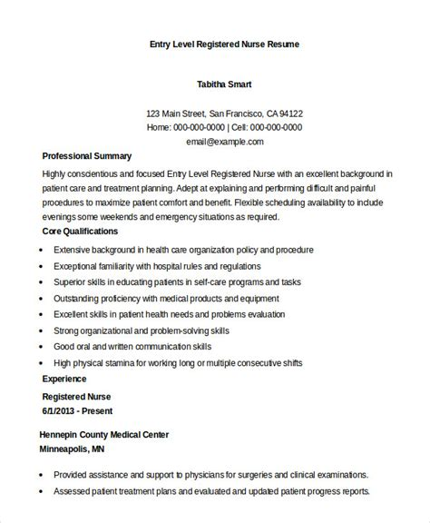 Entry Level Nursing Resume by Registered Resume Exle 7 Free Word Pdf