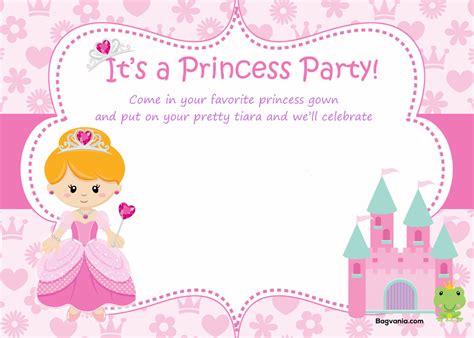 princess birthday invitations bagvania