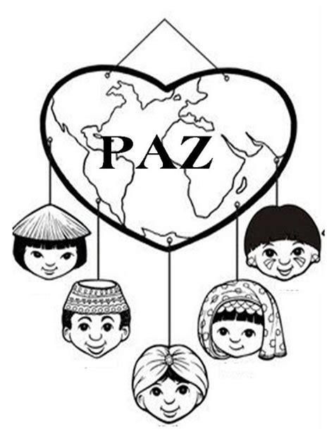 imagenes para colorear sobre la paz dia de la paz dibujos para colorear sobre paz