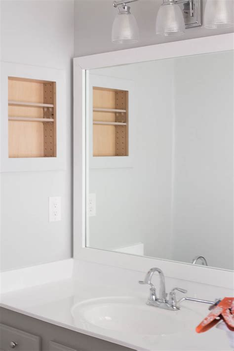 Framing Out A Bathroom Mirror by How To Frame A Bathroom Mirror Easy Diy Project