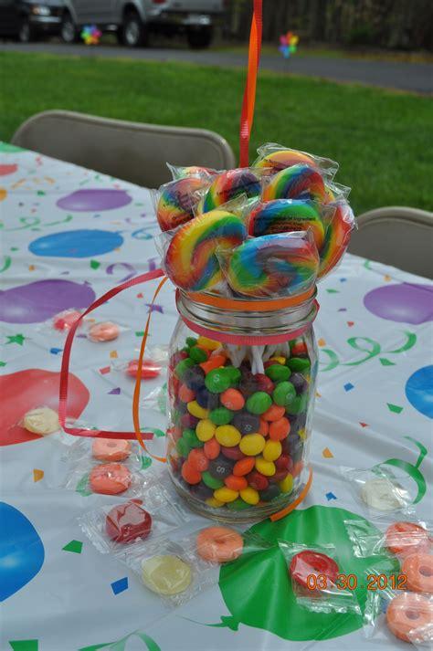 rainbow centerpieces great ideas