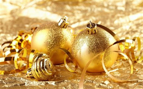 golden christmas ornaments christmas wallpaper 22229805
