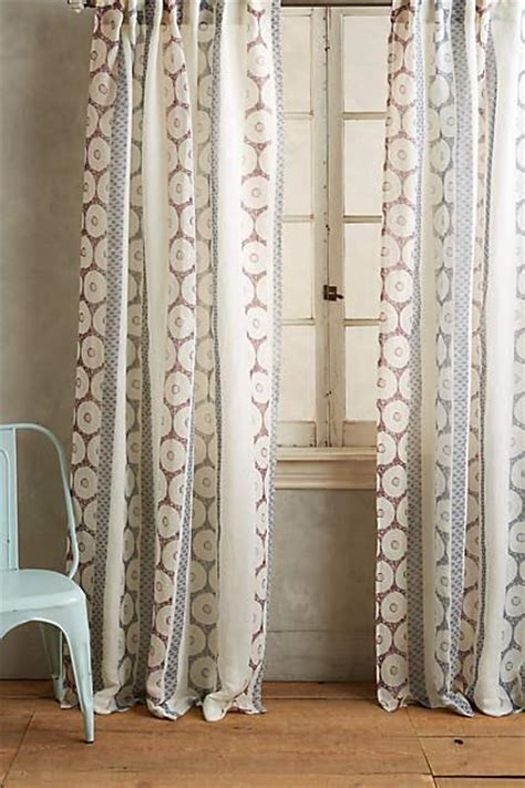spliced shibori curtain  neutral  navy