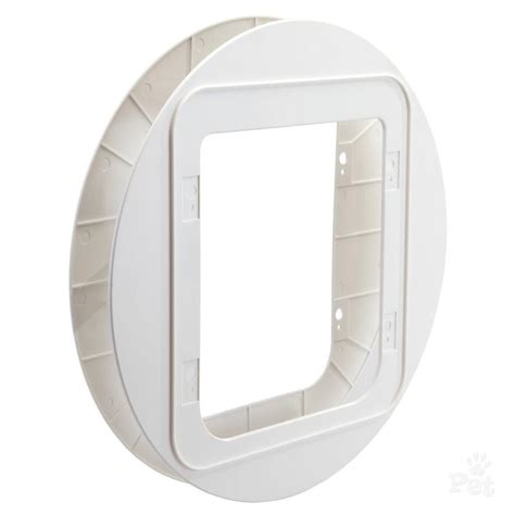 microchip door sure petcare microchip pet door mounting adaptor white