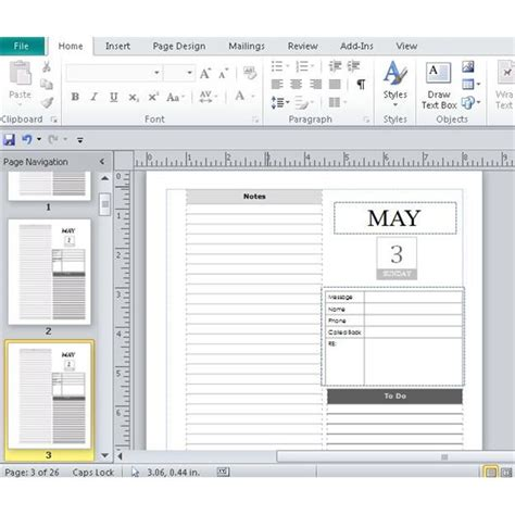 Daily Planner Template Publisher | microsoft publisher daily calendars