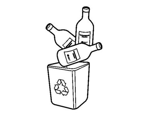 imagenes para pintar vidrio dibujo de reciclaje de vidrio para colorear dibujos net