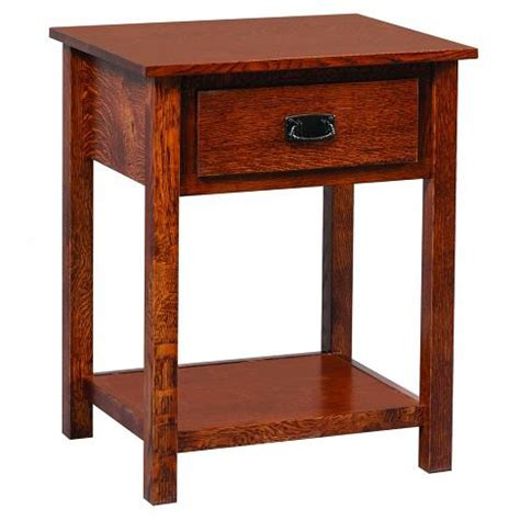Tanessah Nightstand Amish Crafted Furniture - elkins open stand amish crafted furniture