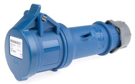 Mennekes Am Top 260 980 mennekes startop series ip44 blue cable mount 3p