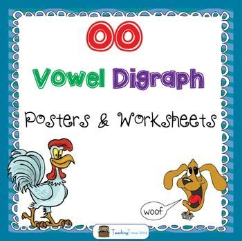 ui spelling pattern oo vowel digraph worksheets and posters vowel digraphs