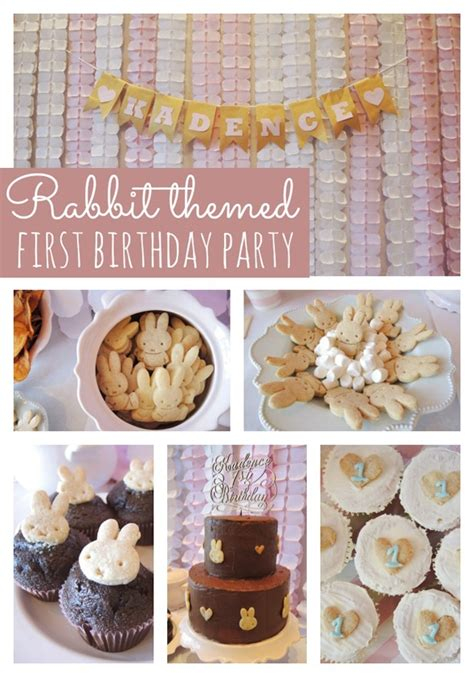 Rabbit Themed First  Ee  Birthday Ee    Ee  Party Ee   Pretty  Ee  Party Ee