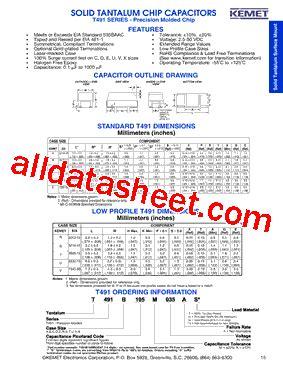 kemet capacitors datasheet t491c107k010at datasheet pdf kemet corporation