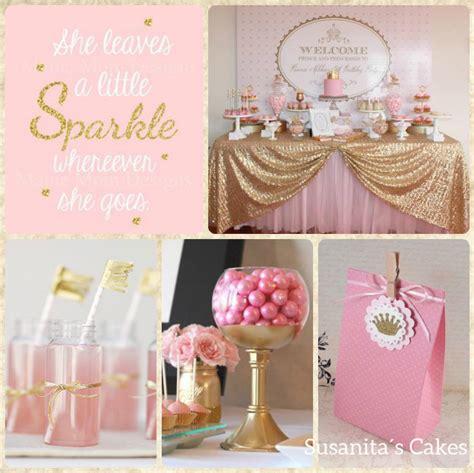 ideas para una en colores rosado y dorado