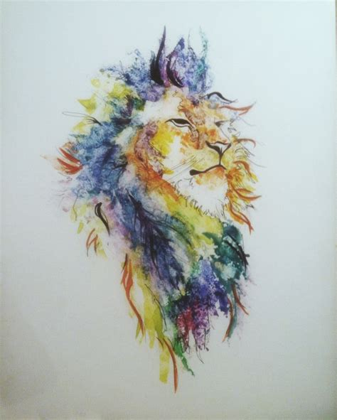 watercolor tattoo lion watercolor on yupo tattoos pictures