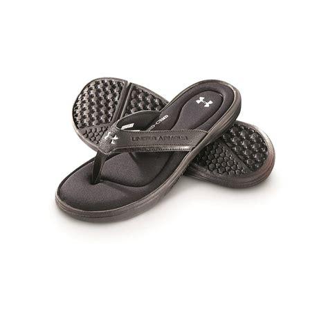 mens armour sandals armour s ignite t flip sandals black metallic