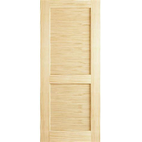 Solid Wood Louvered Doors Interior Bay 24 In X 80 In Louvered Solid Unfinished Wood Interior Door Slab Dplcllc2480