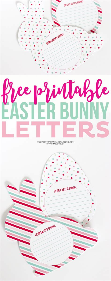 printable easter letters free printable easter bunny letters thirty handmade days