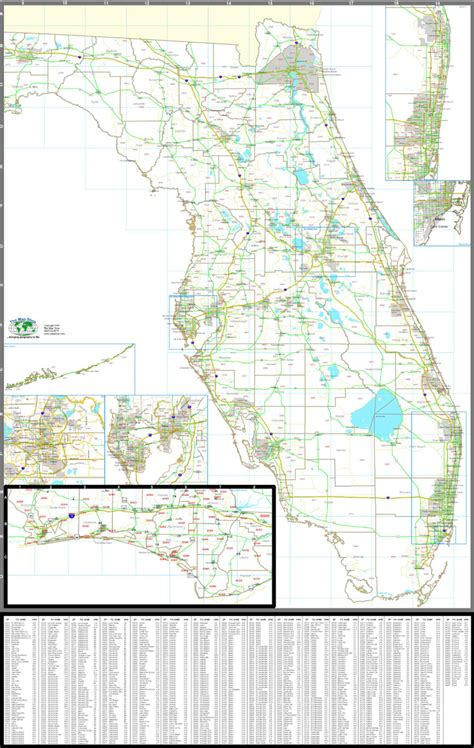 zip code map florida map florida zip codes