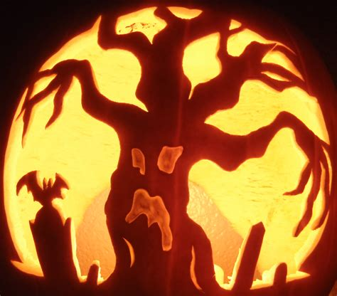 spooky tree pumpkin template 24 spooky pumpkin carving ideas entertainmentmesh
