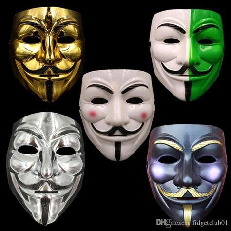 V In The Silver Mask v for vendetta mask costume mask gold silver white