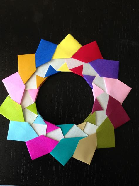 Origami Reef - origami modular wreath make