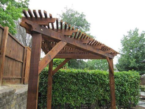 triangular wooden corner pergola pinteres