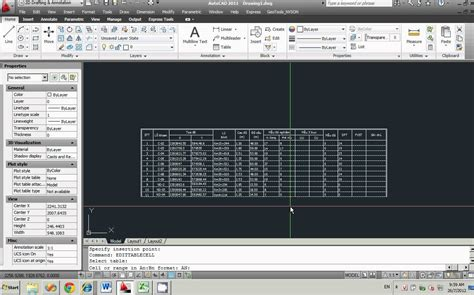 autocad tutorial with exle link data excel to autocad youtube