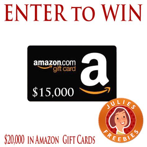 Win An Amazon Gift Card - win 1 of 3 amazon com gift card packs 20 000 total julie s freebies