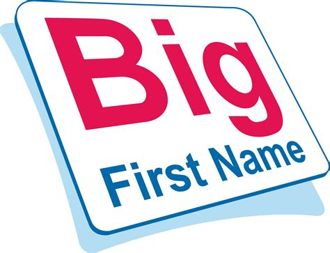 big names big name logo