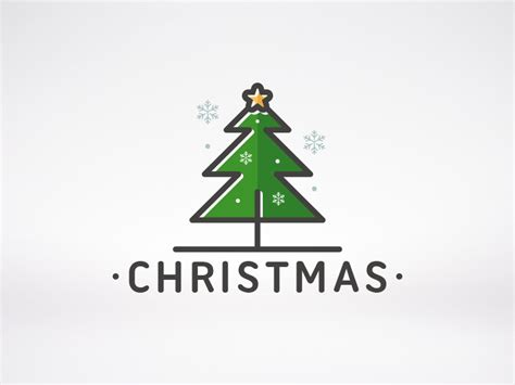 christmas tree logo by alberto bernabe dribbble