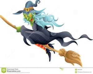 halloween broomstick halloween witch on broom stock photo image 34854290