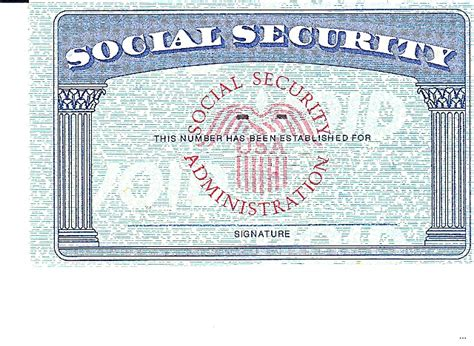 back of social security card template blank social security card template www pixshark